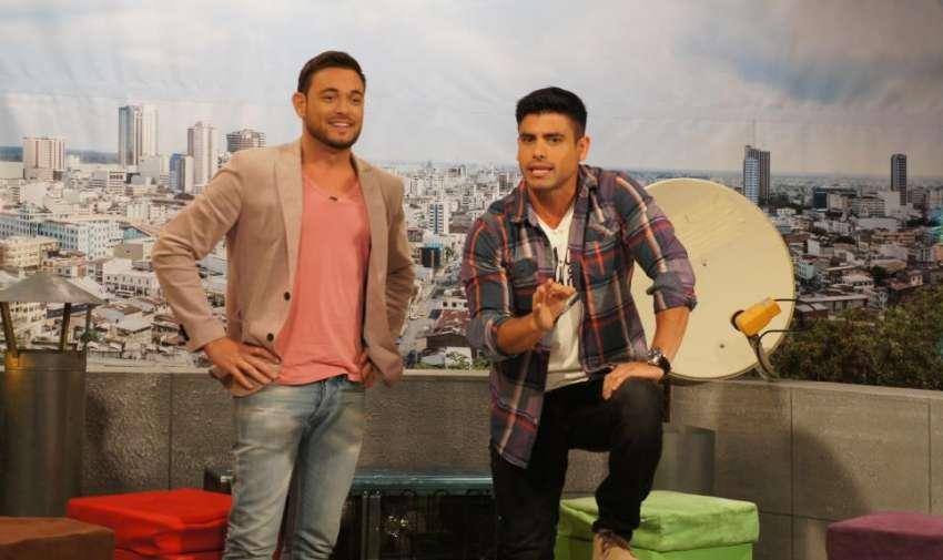 Agustín Belforte y Efraìn Ruales en el programa de En Contacto. Foto: Ecuavisa