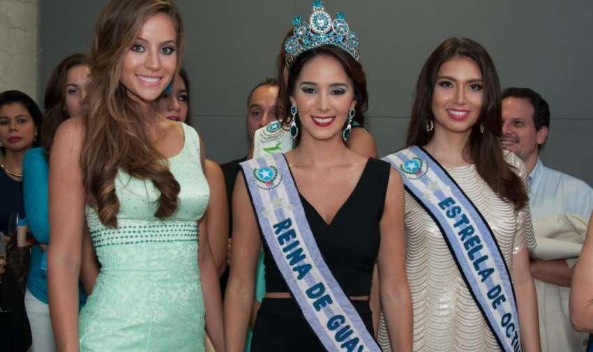 La reina de Guayaquil, Andrea Torres, asistió al evento de bienvenida que organizó Ecuavisa para recibir a los miembros de la Asamblea Informativa Latinoamericana. Foto: Mauricio Torres