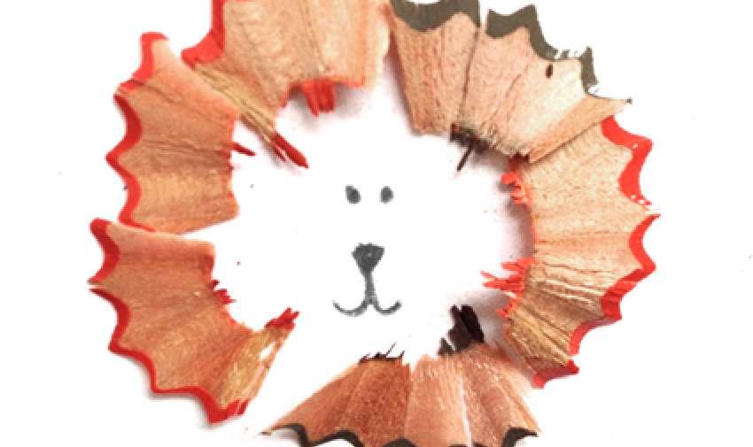 Los dibujos a lápiz de Marta Altes, que aprovecha las virutas de los lápices de colores para conseguir su creatividad destacada.