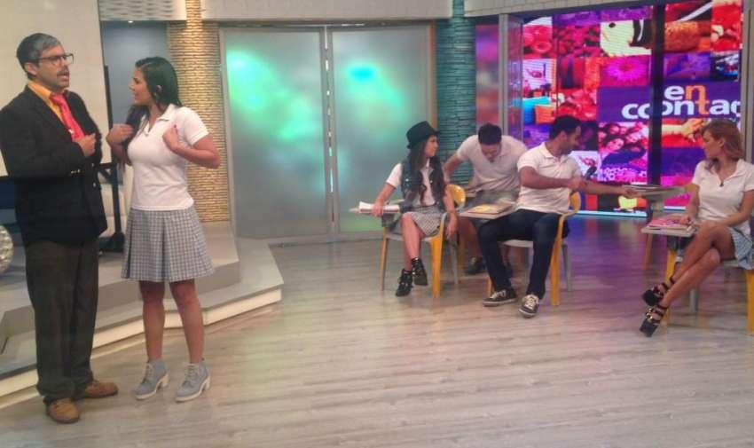 Michela también quiso ser parte de los chicos Yingo en la escuelita de En Contacto. Foto: Ecuavisa