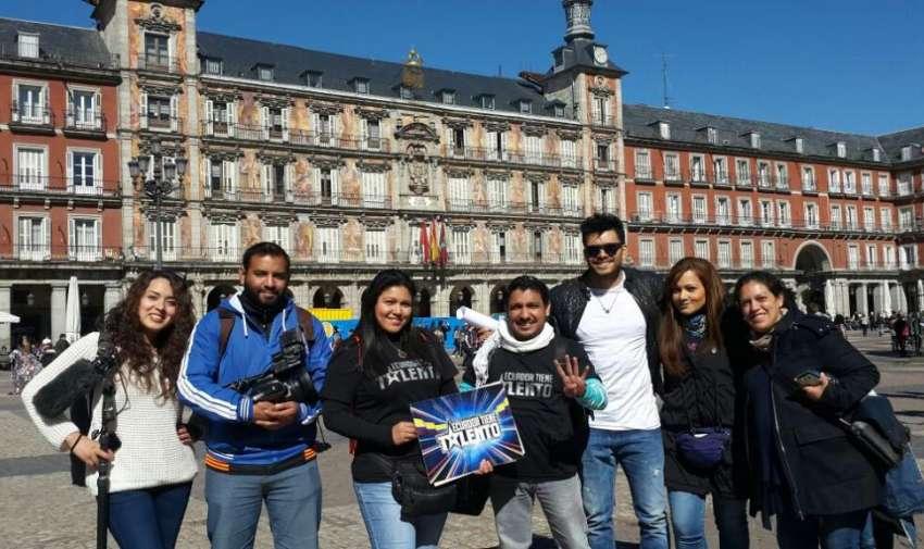 El equipo de Ecuador Tiene Talento, viajó hasta España para buscar a los ecuatorianos residentes en este país que quieran demostrar su talento. Foto: Ecuavisa