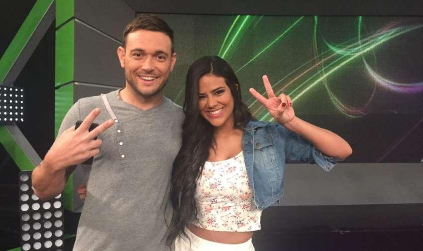 Agustín Belforte junto a la presentadora de En Contacto, Michela Pincay. Foto: Ecuavisa