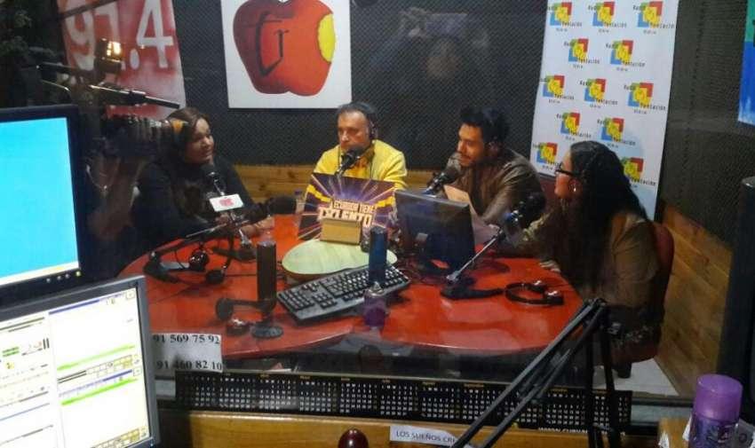Durante la gira de medios en Madrid, anunciando el casting de ETT. Foto: Ecuavisa
