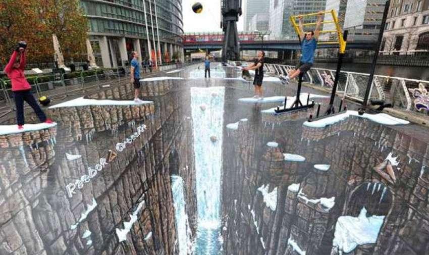 Considerado el más grande del mundo, este impresionante mural de tiza se encuentra en Londres.