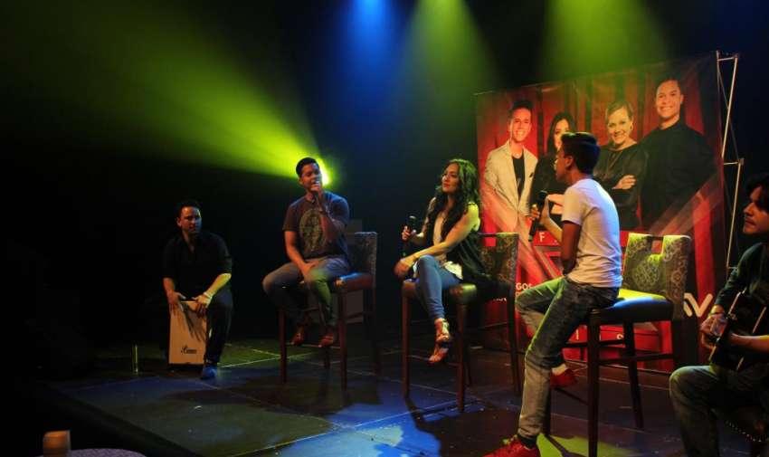 Los jueces de Factor X Kids, durante la rueda de prensa. Foto: Ecuavisa