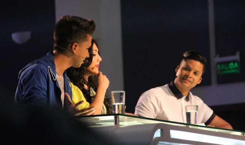 Los carismáticos jueces de factor x kids se divirtieron durante la grabación de la promo. Foto: Ecuavisa