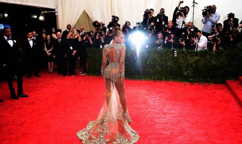 Beyonce llega al Museo Metropolitano este  04 de mayo 2015 en Nueva York. AFP