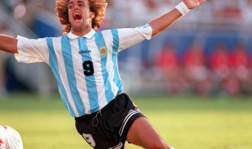 Gabriel Omar Batistuta goleador de la Copa América 1995 con 4 goles.