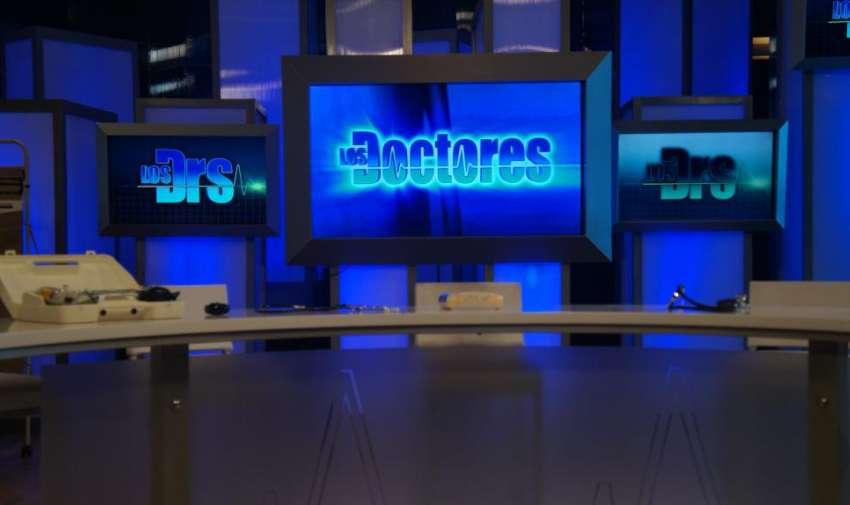 Parte del set de Los Doctores. Foto: Ecuavisa