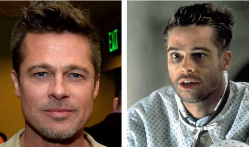 El Súper Galán y Famoso Brad Pitt en la Película 12 Monos.