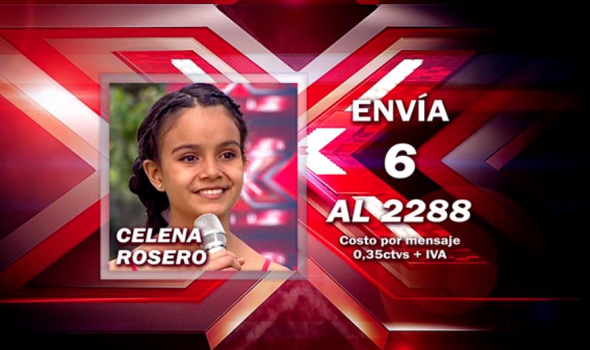 Envía 6 al 2288 para votar por Celena.