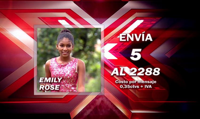 Envía 5 al 2288 para votar por Emily Rose.