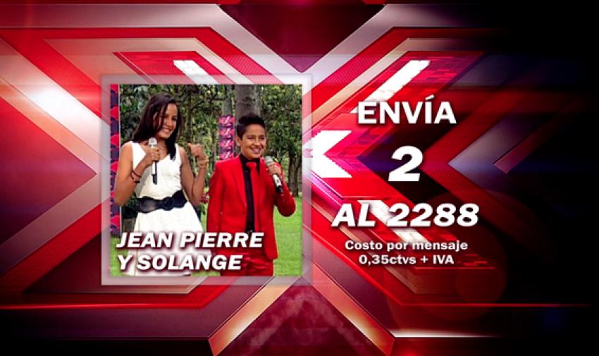 Envía 2 al 2288 para votar por Jean Pierre y Solange.