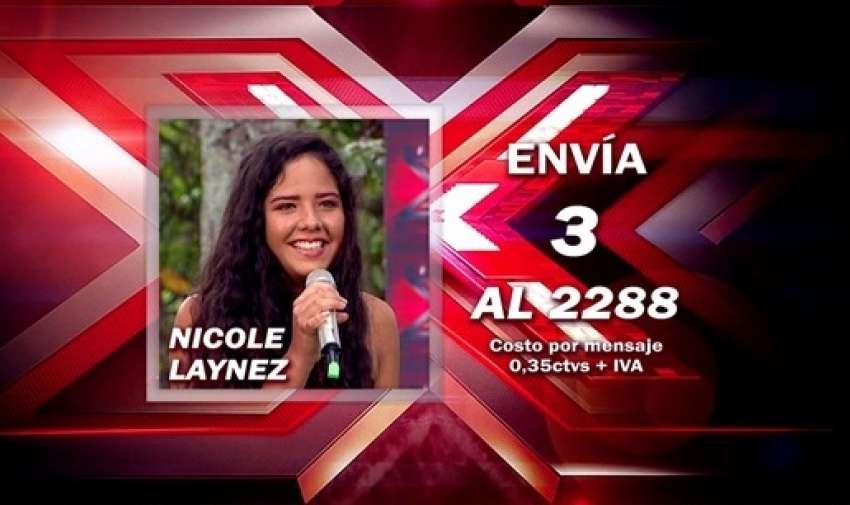 Envía 3 al 2288 para votar por Nicole.