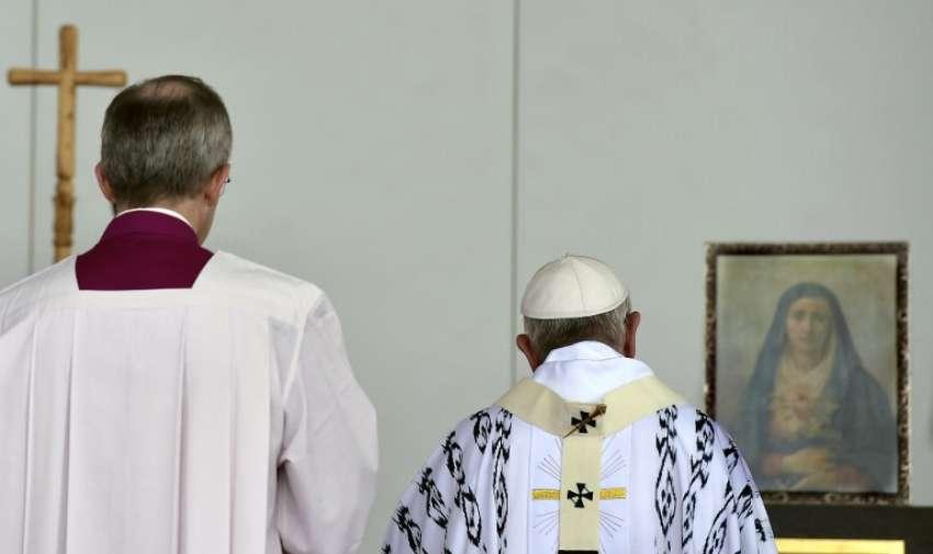 Papa Francisco celebra una misa al aire libre en el Parque Bicentenario , en Quito , Ecuador , el 7 de julio de 2015.