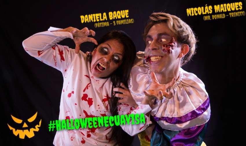 Nicolas Maiques no pudo con la espera y como buen zombie, invadió la sesión de Daniela.