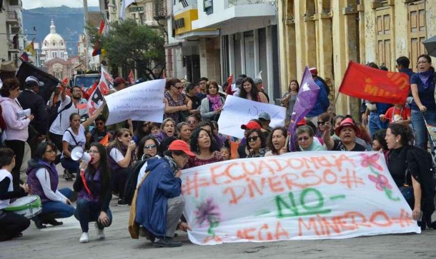Marcha de los trabajadores en conmemoración al 1 de mayo - Parque de San Blas, Cuenca