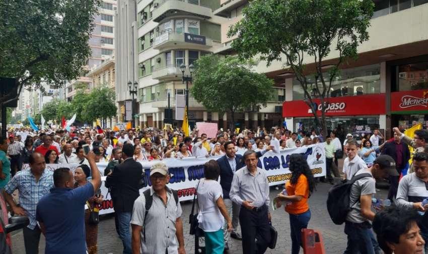 La marcha provida tuvo como consigna la defensa de la familia.