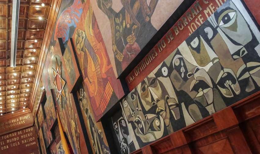 QUITO, Ecuador.- La Asamblea Nacional desarrolla varias actividades para conmemorar los 100 años de Oswaldo Guayasamín.