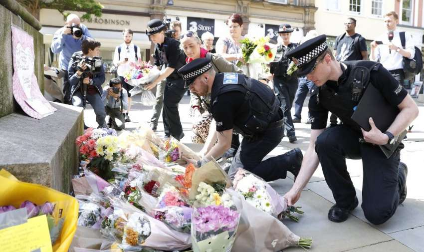 Masacre en Manchester tras concierto de Ariana Grande Foto: AP