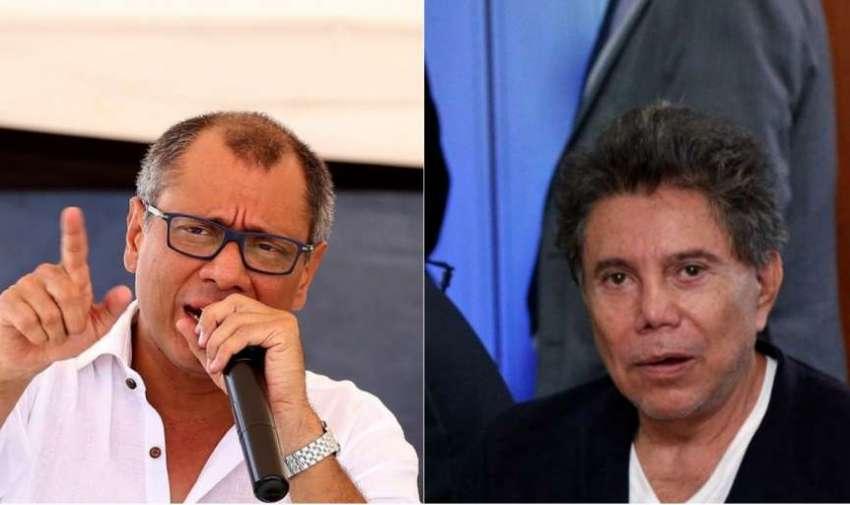 ECUADOR.- Jorge Glas y Ricardo Rivera fueron sentenciados a 6 años de prisión por el delito de asociación ilícita, en el caso Odebrecht. Collage: Ecuavisa