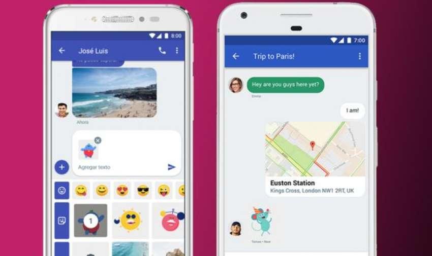 Así es como se verán los nuevos mensajes de Chat en teléfonos Android.