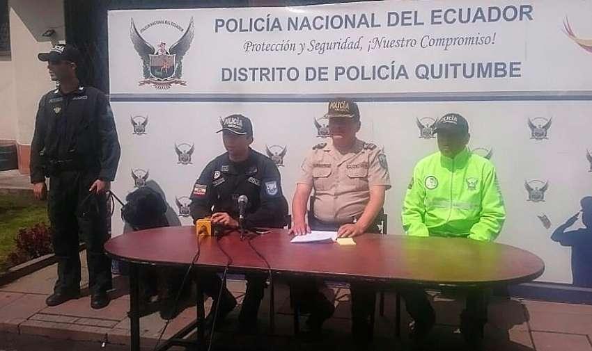 El teniente coronel, Édgar Logroño pidió a la ciudadanía tener más cuidado con los niños. Foto: Policía Nacional