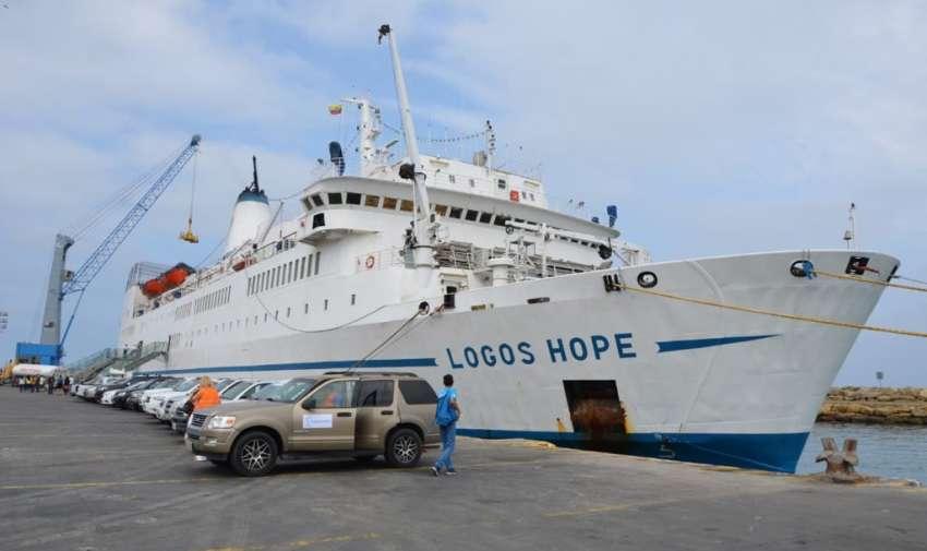 MANTA, Ecuador.- La ciudadanía podrá visitar el Logos Hope hasta el 25 de noviembre de 2018. Foto: Gobernación de Manta.
