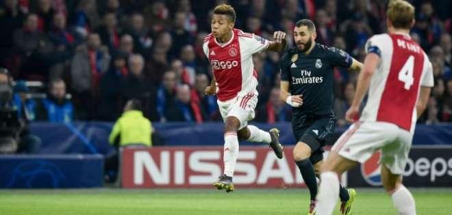 Ajax vs. Real Madrid en Champions League.