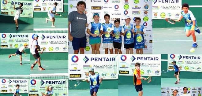 Jóvenes talentos del tenis nacional.