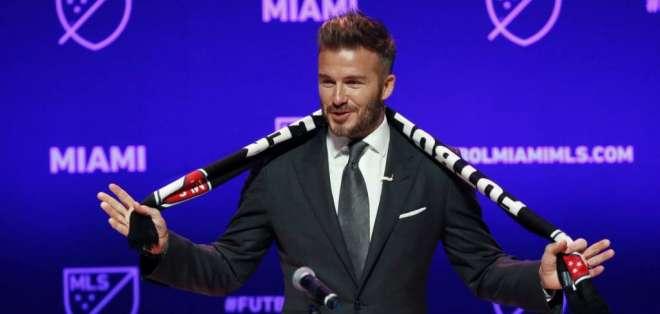 David Beckham, en la presentación de su equipo.