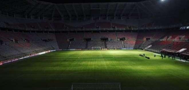 El estadio del Deportivo Lara a oscuras.