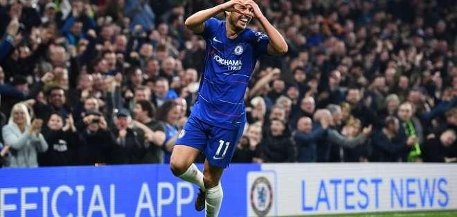 Pedro tras marcar uno de los tantos del partido.