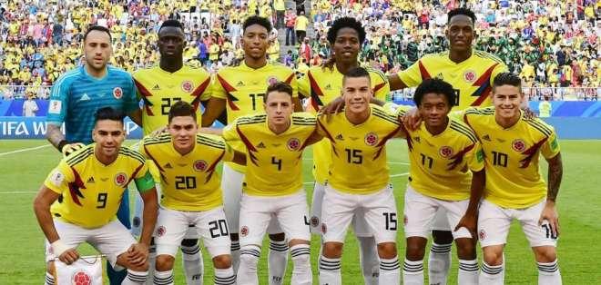 Jugadores de la selección colombiana.
