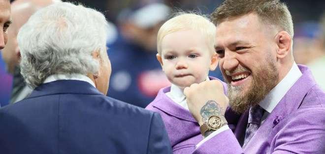 Harry Kane, Connor McGregor, entre otros asistieron al duelo entre Patriots y Rams. Foto: Tomada de @NFL