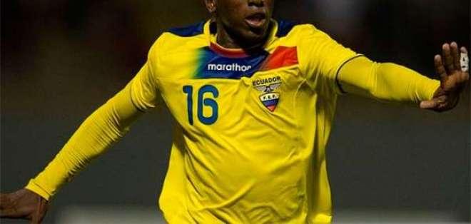 Daniel Porozo, delantero ecuatoriano.