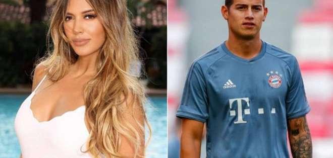 Shannon De Lima y el futbolista James Rodríguez,