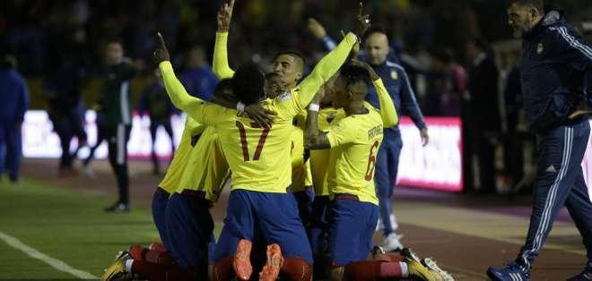 Ecuador festeja un tanto en Eliminatorias