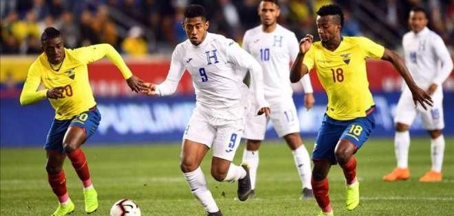 Partido entre Ecuador y Honduras.