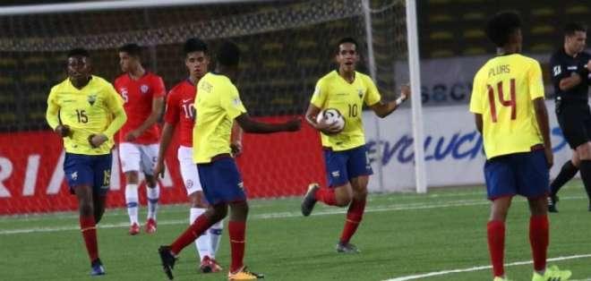 Jugadores de Ecuador sub 17.