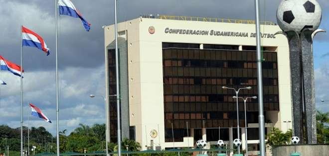 Edificio de la Conmebol en Paraguay.