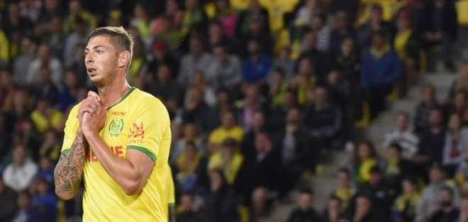 El delantero Emiliano Sala viajaba de Francia a Gales para fichar por el Cardiff City. Foto: SEBASTIEN SALOM GOMIS / AFP