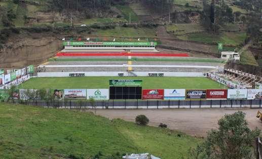 El estadio Cooperativa de Ahorro y Crédito Mushuc Runa está siendo ampliado en su capacidad. Foto: Alejandro Bellolio