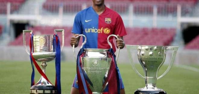Samuel Eto'o, delantero africano que brilló en el FC Barcelona.