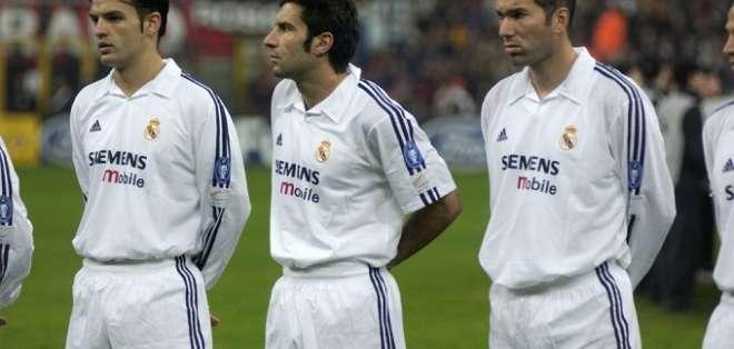 Figo en su paso por el Madrid.