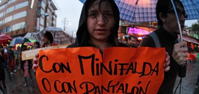 """Mujeres contra la violencia de género realizaron """"Marcha de las putas"""". Foto: API"""