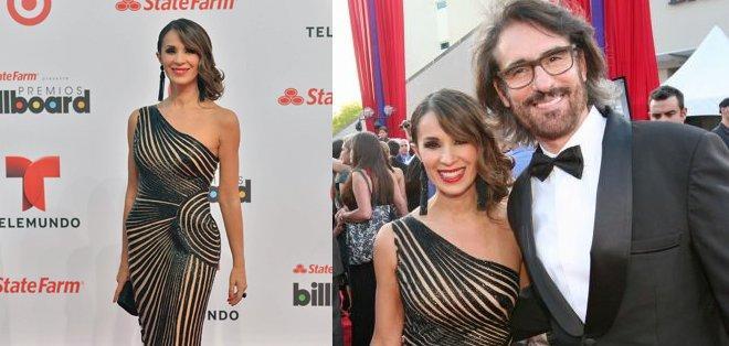 Definitivamente la pareja mejor vestida de toda la gala, los elegantes Miguel Varoni y Catherine Siachoque. Foto: EFE.