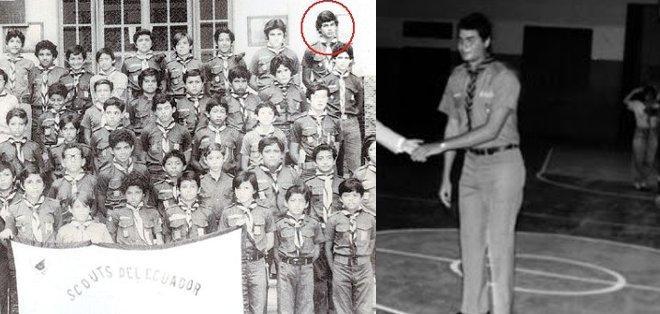 Estudió en el Colegio San José de la Salle y conformó el grupo de Boy Scouts del Cristóbal Colón.