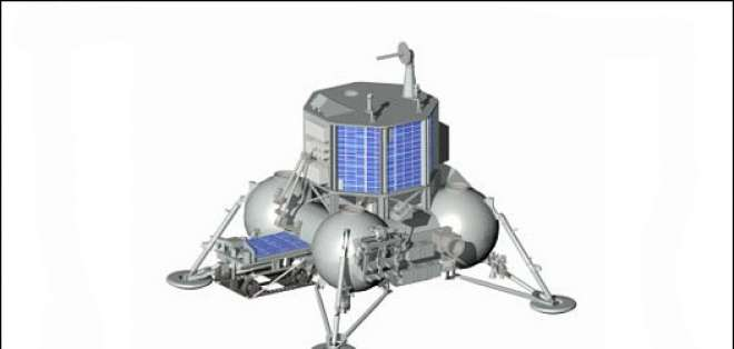 La plataforma construida en Rusia depositará en la Luna al robot indio.