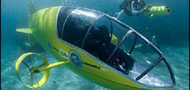 Rousson puso a prueba el submarino en la Costa Azul, en el sureste de Francia.